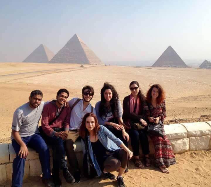 Pyramids of the Giza pyramid complex