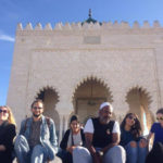 Group of students in front of a monument in Rabat, Morocco