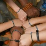 group of students wearing handcrafted bracelets from Rabat, Morocco