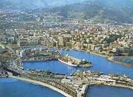 Savona harbour, aerial view