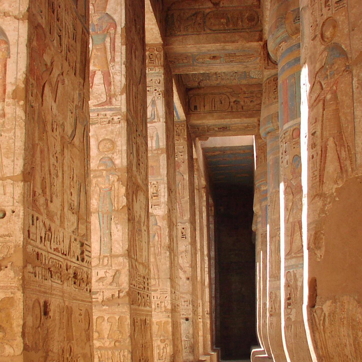Ornate Columns in Luxor Egypt