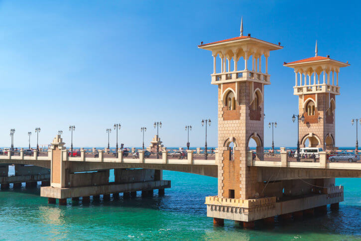 Stanley bridge in Alexandria, Egypt