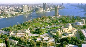 Cairo, Egypt, aerial view
