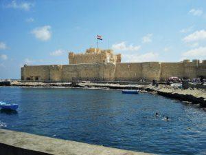 View of the Citadel of Qaitbay in Alexandria, Eyp