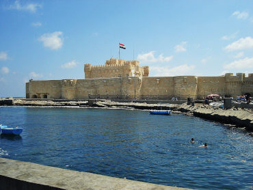 View of the Citadel of Qaitbay in Alexandria, Eyp